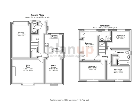 example 2d floor plans from planup